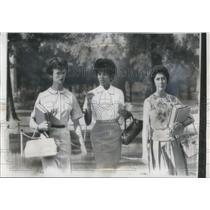 1963 Press Photo Vivian Malone Black Students 1st Day University of Alabama