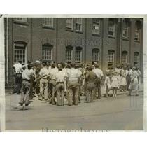 1931 Press Photo Textile workers strike in Patterson NJ - nef02648