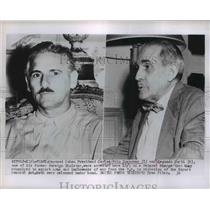 1953 Press Photo Cuban President Carlos Prio Socarras, Segundo Curti - nef02750