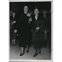 1936 Press Photo Mrs Rose McConnell Long new LA Senator & Senator H Caraway