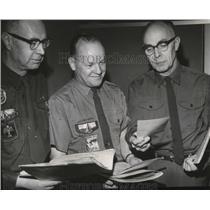 1968 Press Photo Inland Empire Boy Scout Council Lou W Rucker, Robert H Lamott