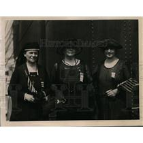 1922 Press Photo Three Gold Star Mother head delegation of Women from 50 cities