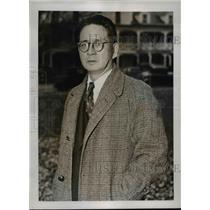1937 Press Photo Kin Hana, Japanese Roadhouse Owner at John Montague Trial
