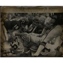 1972 Press Photo Green Bay Packers quarterback Scott Hunter versus Chicago Bears