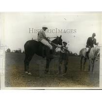 1928 Press Photo Becky Lanier, JD Watson of Greenwich polo team in CT