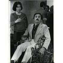 1981 Press Photo Steven Tarnoff in a wheelchair - spa23477