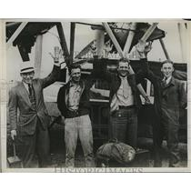 1934 Press Photo Ralph O'Neill, John Harlin, Thos. Smith and WIlliam Campbell