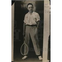 1922 Press Photo Tennis player Griff ready for a match - net15581