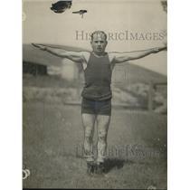 1923 Press Photo Jerry Livachi demonstrates shoulder exercises - net12675