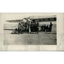 1929 Press Photo Mexican federal airplane ready for a takeoff at an airport