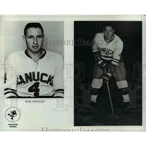Press Photo Tom Thurlby of the Vancouver Canucks - orc11762