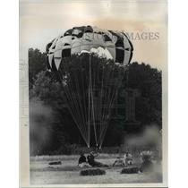 1970 Press Photo Oregon Skydiving Championships at Pacific Parachute Center