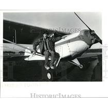 1985 Press Photo Michael Mustain Vancouver Taylorcraft Aircraft 16th Birthday