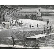 1969 Press Photo National Jamboree Boy Scout Take a Dip in Lake Pend Oreille