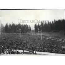 1969 Press Photo Boy Scout Jamboree 60,000 who attended Closing Ceremonies