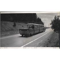 1969 Press Photo Bus Transport Boy Scouts Jamboree - spa28758