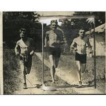 1925 Press Photo Pinkey Mitchell, Joey Cline, John Michaels train in WI