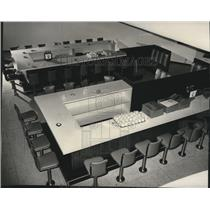 1965 Press Photo Coffee Shop Rotunda Bldg Spokane International Airport