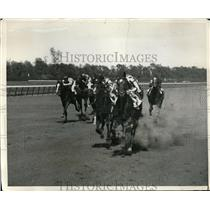 1932 Press Photo The Pelican , Calchas, Bolilee at Belmont races in NY