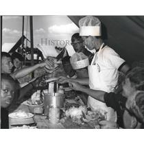 1969 Press Photo Jack Heard Performs Chef Chores for Northeast Georgia Scout