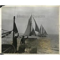 1931 Press Photo Trans Atlantic yacht race to England the Ilkes at start