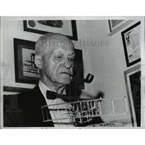 1963 Press Photo Maj. Gen. Benjamin Delahauf Foulois, military aviation pioneer