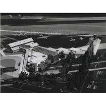 1975 Press Photo Proposed Aviation Museum & Public Park Boeing - spa27269