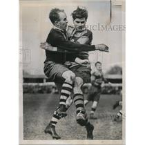 1937 Press Photo Hospital Rugby Cup players at Richmond Surrey England