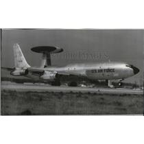1975 Press Photo Air Force E3A AWACS undergoes demonstration at Andrews AFB