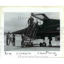 1993 Press Photo Porland Rose Festival - Air Show (Stealth) - orb36099