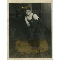 1922 Press Photo Boxer Terry Martin in training for Pancho Villla bout