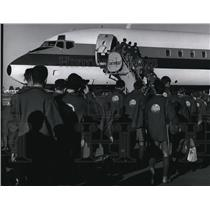 1969 Press Photo Bot Scouts Head Home From National Scout Jamboree - spa28754
