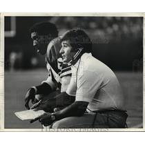 1977 Press PhotoSam MCullum, Seahawks wide receiver & Sam Boghosian, Asst. Coach