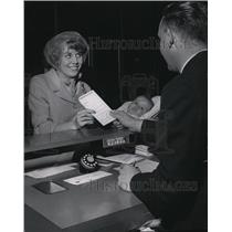 1965 Press Photo Spokane International Airport Ticket Counters - spa27724