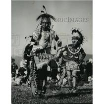 1957 Press Photo Indians (Old West) Went Home After their Ceremonial Dance
