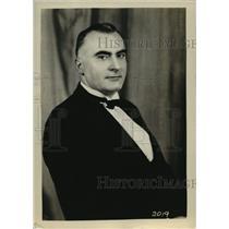 1932 Press Photo Joseph Ferguson Official Referee for 1932 Billiards Tournament
