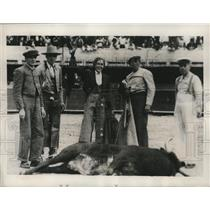 1940 Press Photo Conchita the matador after a bullfight for the 32nd time