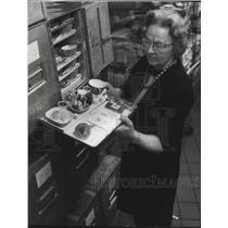 1967 Press Photo Mrs Doris Redford Flight Kitchen Manager for Gladieaux