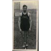 1929 Press Photo Kanitz Michigan College track runner - net12319
