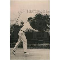 1920 Press Photo Tennis player Clarence Griffin ready for a match - net15582