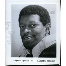 1971 Press Photo Eugene Upshaw of Oakland Raiders - net14050