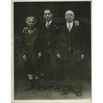 1930 Press Photo Bowling Professionals Mary, Joe & Emanuel Falcaro - ney11952