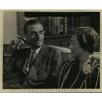 1933 Press Photo Herbert Agar, Louisville writer, wife Eleanor Carroll Chilton.
