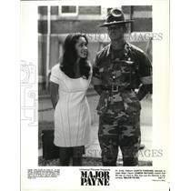 "1995 Press Photo Karyn Parsons pleads with Major Payne in ""Major Payne"""