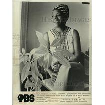 1974 Press Photo Maya Angelou converses with Bill Moyers on Mill Moyers' Journal