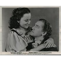 1936 Press Photo Olivia De Havviland and Fredric March in Anthony Adverse