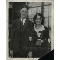 1930 Press Photo Senators 1st basemman Joe Kubel & bride Willette West