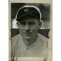 1930 Press Photo George Leopp of Washington Senators baseball - net16377