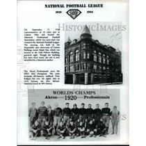 1920 Press Photo Akron World Champion football team named Canton Bulldogs