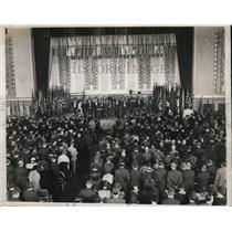 1932 Press Photo 2nd Annual Anti-Communist Convention @ Waldorf-Astoria New York